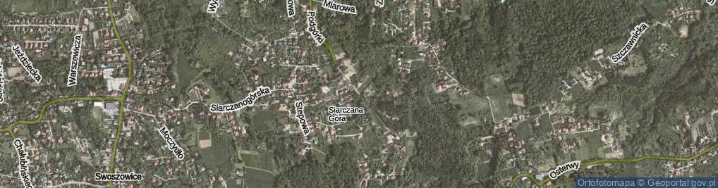 Zdjęcie satelitarne Podgórki ul.