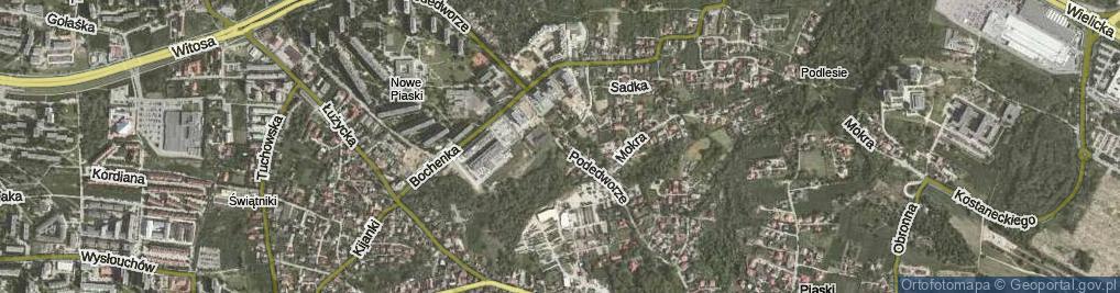 Zdjęcie satelitarne Podedworze ul.