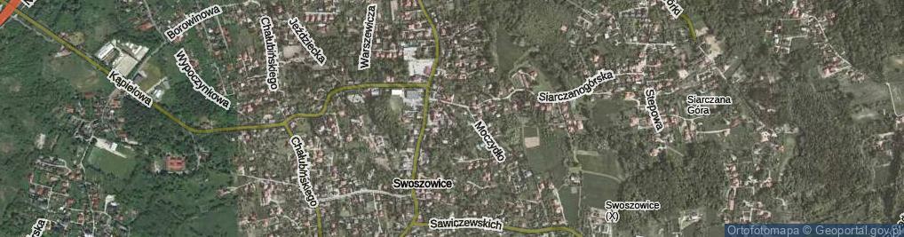 Zdjęcie satelitarne Podhalnie ul.