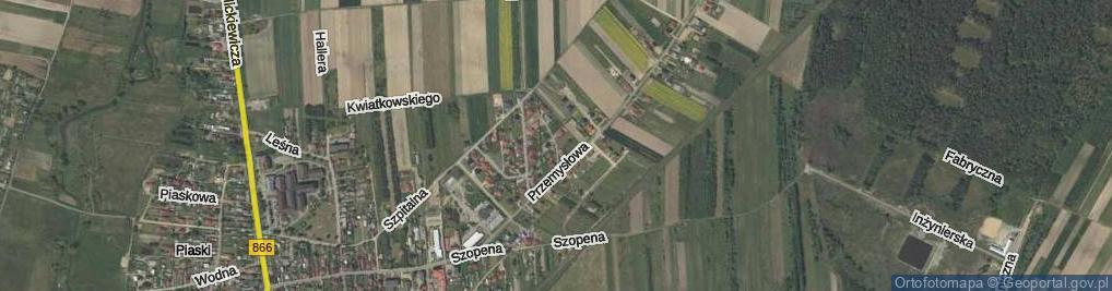 Zdjęcie satelitarne Pod Borem ul.