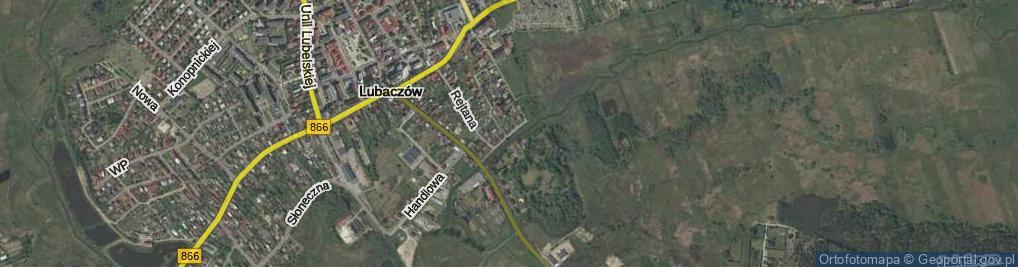 Zdjęcie satelitarne Podzamcze ul.