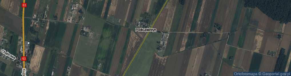 Zdjęcie satelitarne Podkupientyn ul.