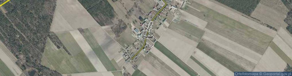 Zdjęcie satelitarne Poniat ul.