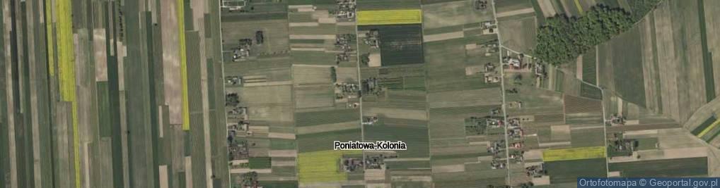 Zdjęcie satelitarne Poniatowa-Kolonia ul.