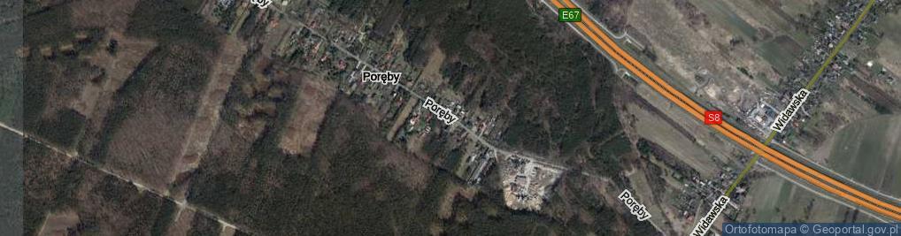 Zdjęcie satelitarne Poręby ul.