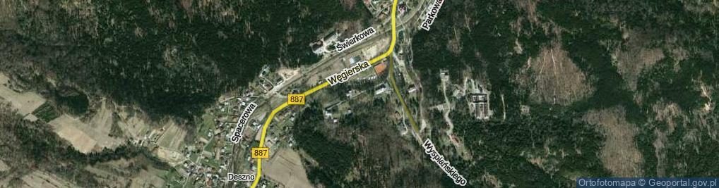 Zdjęcie satelitarne Potockich Anny i Jana ul.