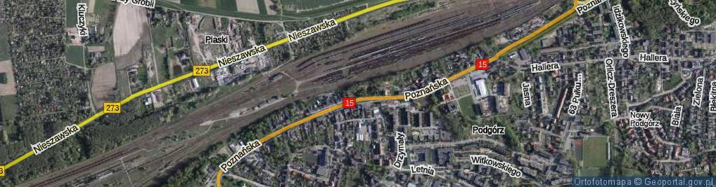 Zdjęcie satelitarne Pokątna ul.