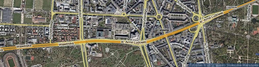 Zdjęcie satelitarne Podoskich Romana i Jana ul.