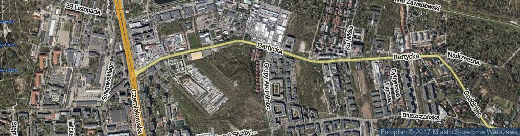 Zdjęcie satelitarne Pod Kopcem ul.