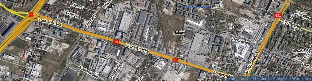 Zdjęcie satelitarne Porcelanowa ul.