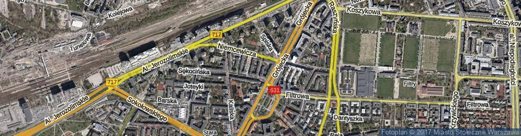 Zdjęcie satelitarne Poniecka ul.