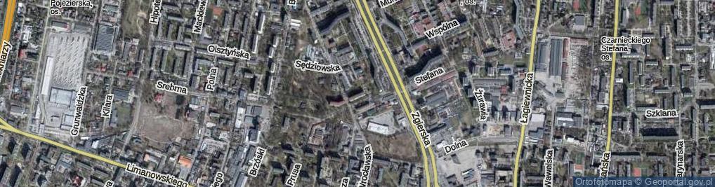 Zdjęcie satelitarne Profesorska ul.
