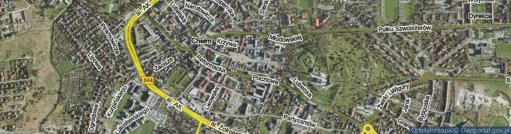 Zdjęcie satelitarne Przechodnia ul.