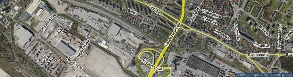 Zdjęcie satelitarne Promowa ul.