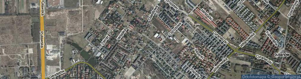 Zdjęcie satelitarne Prymulki ul.