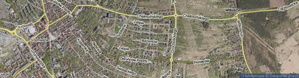 Zdjęcie satelitarne Przepiórek ul.