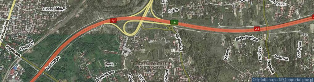 Zdjęcie satelitarne Przyrodnicza ul.
