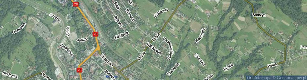 Zdjęcie satelitarne Przyłęckiego Achacego ul.