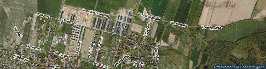 Zdjęcie satelitarne Promienna ul.