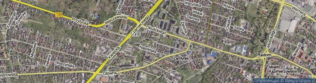 Zdjęcie satelitarne Przeskok ul.