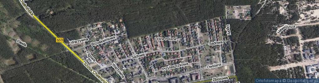 Zdjęcie satelitarne Prosowa ul.