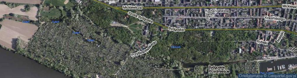 Zdjęcie satelitarne Przy Cegielni ul.