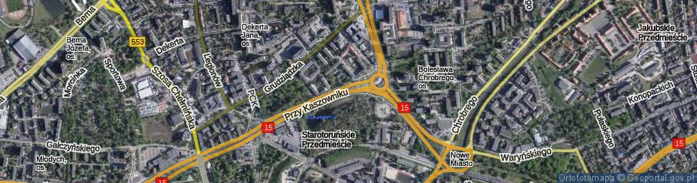 Zdjęcie satelitarne Przy Kaszowniku ul.