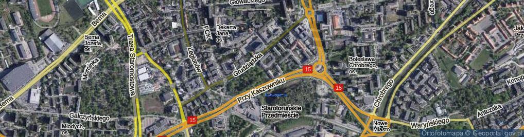 Zdjęcie satelitarne Przy Rynku Wełnianym ul.