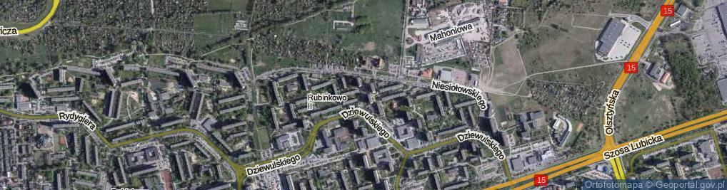 Zdjęcie satelitarne Przybyłów Janiny i Eugeniusza ul.