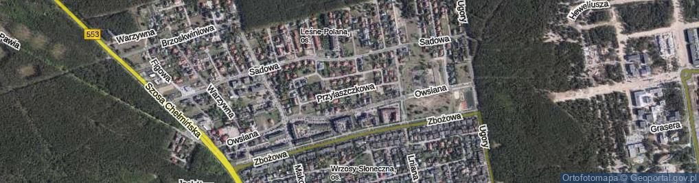 Zdjęcie satelitarne Przylaszczkowa ul.