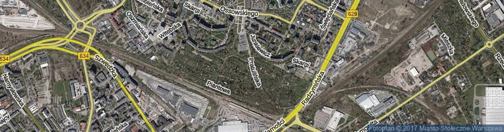 Zdjęcie satelitarne Pratulińska ul.
