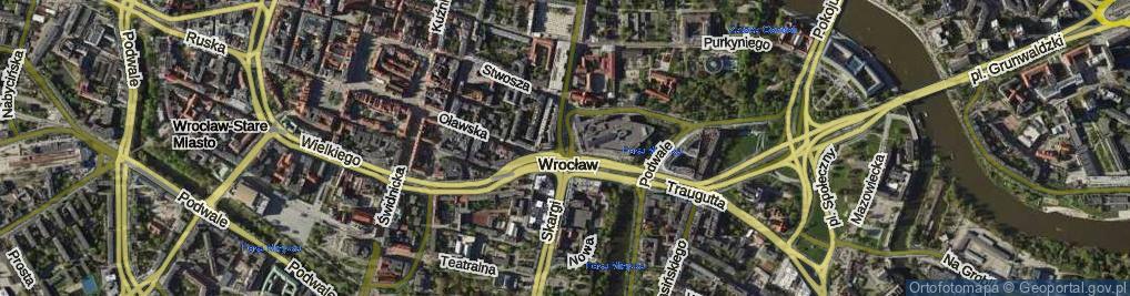 Zdjęcie satelitarne Przejście Winogronowe ul.