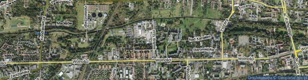 Zdjęcie satelitarne Przy Bramie ul.
