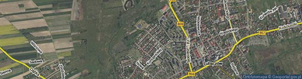 Zdjęcie satelitarne Pszennego ul.