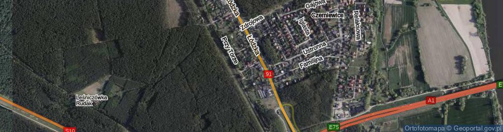 Zdjęcie satelitarne Pszczelna ul.