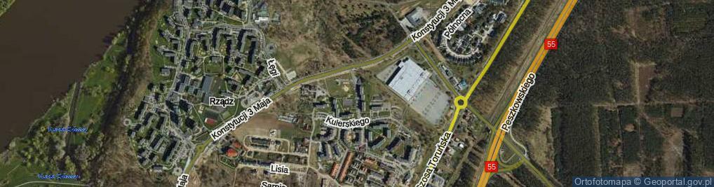 Zdjęcie satelitarne Rakowskiego Jana M. ul.