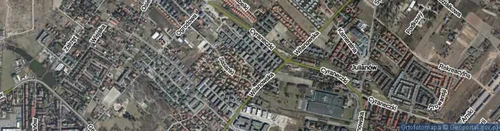 Zdjęcie satelitarne Radnych ul.