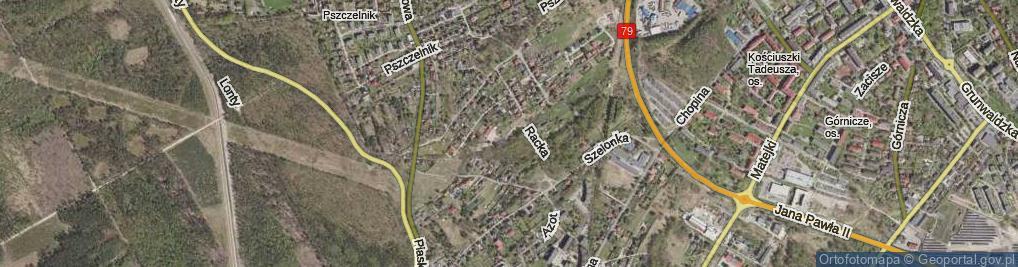 Zdjęcie satelitarne Racka Franciszka ul.