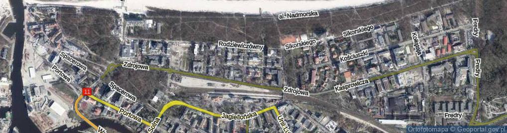 Zdjęcie satelitarne Rafińskiego Teodora, prof. ul.