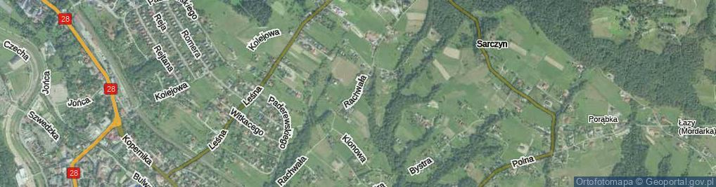 Zdjęcie satelitarne Rachwała Jana, ks. ul.