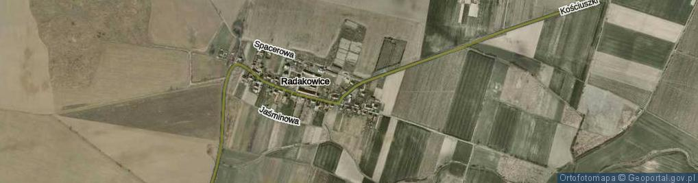 Zdjęcie satelitarne Radakowice ul.