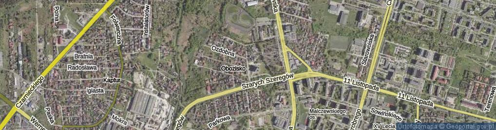 Zdjęcie satelitarne Radosna ul.
