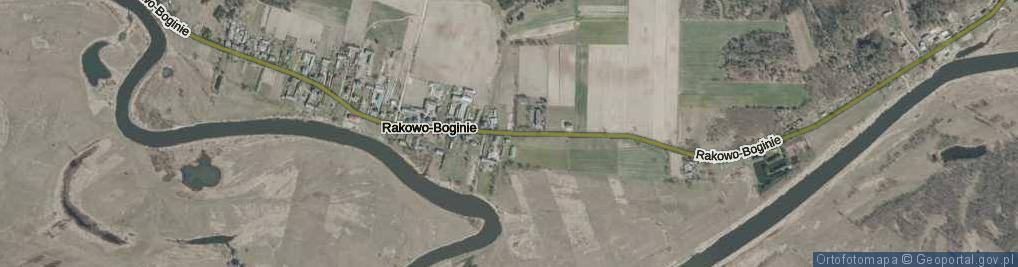 Zdjęcie satelitarne Rakowo-Boginie ul.