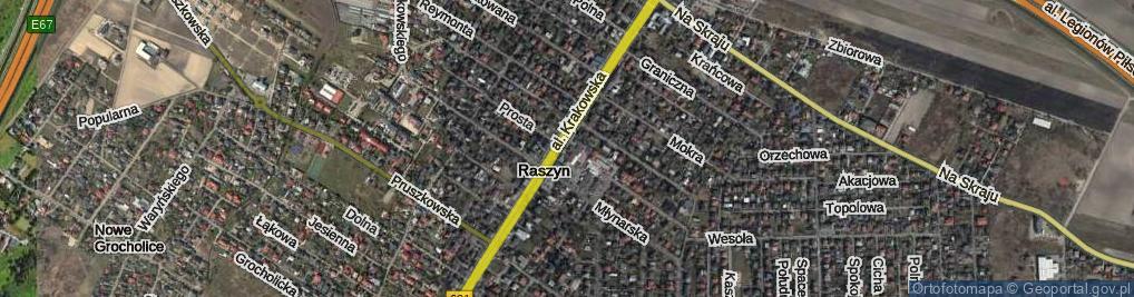 Zdjęcie satelitarne Raszyn ul.