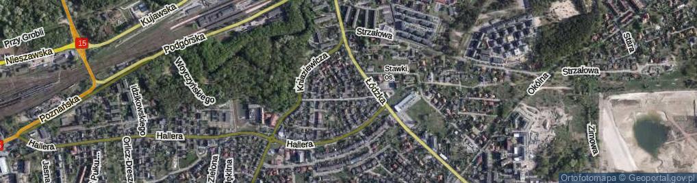 Zdjęcie satelitarne Radiowa ul.