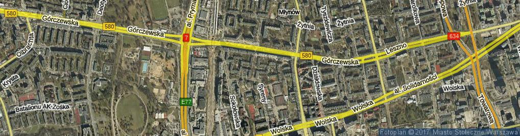 Zdjęcie satelitarne Rabsztyńska ul.