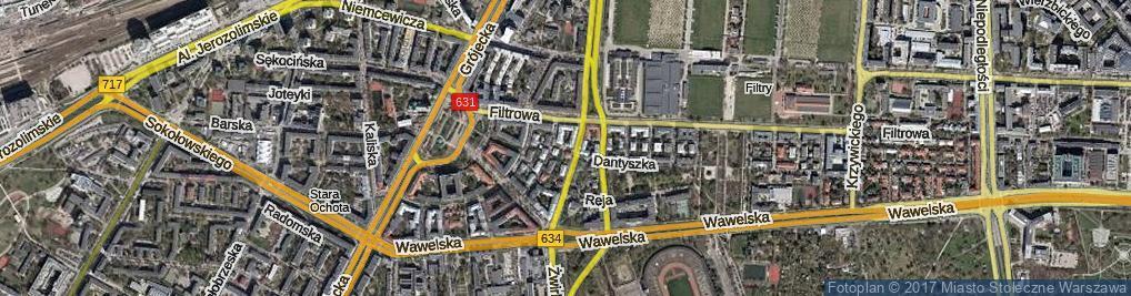 Zdjęcie satelitarne Rapackiego Wincentego ul.