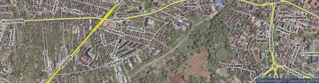 Zdjęcie satelitarne Redutowa ul.
