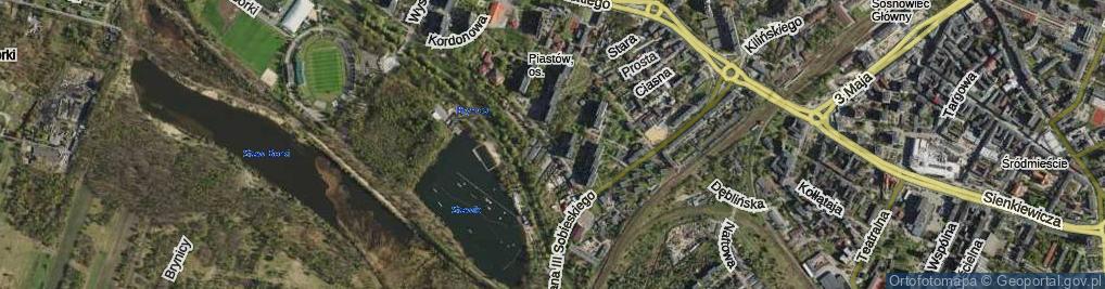 Zdjęcie satelitarne Regulacyjna ul.