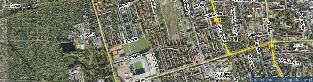 Zdjęcie satelitarne Reform Rolnych ul.